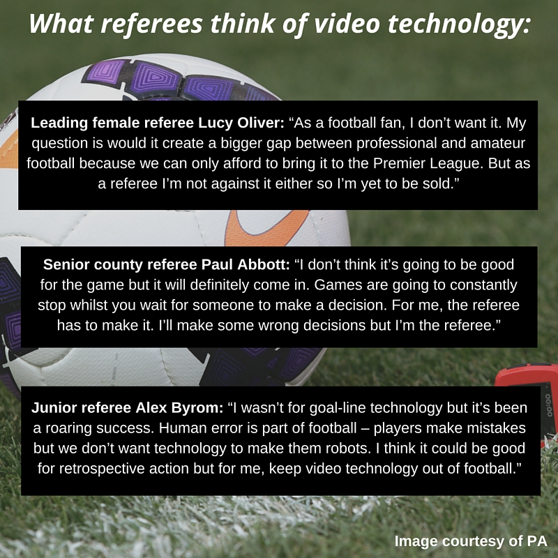 What referees think of video technology