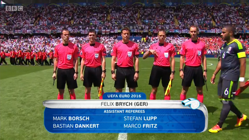Felix Brych referee (England v Wales - 16th June 2016)
