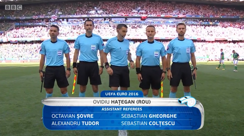 Ovidiu Alin Hategan referee (Poland v NI - 12th June 2016)