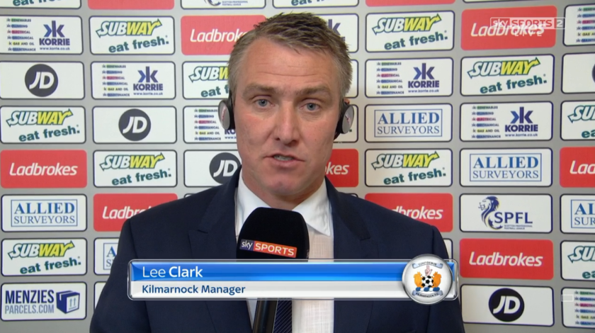 Lee Clark pre-match (v Inverness - 24th April 2016)