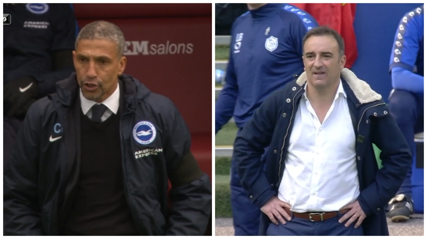 Chris Hughton and Carlos Carvalhal