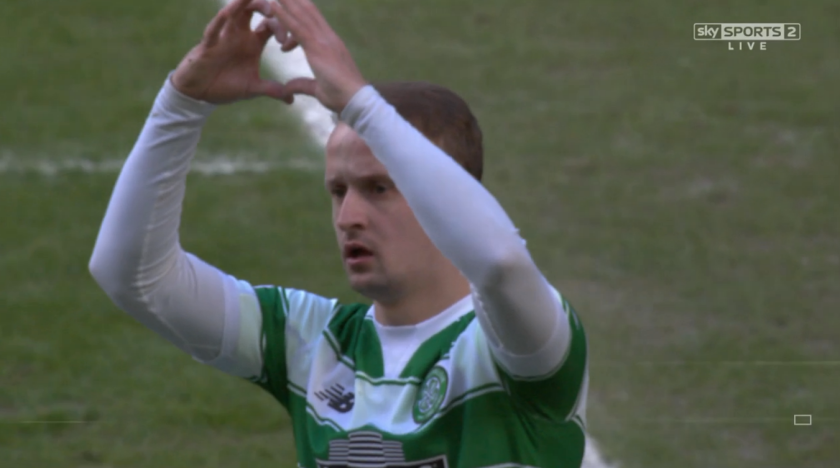 Leigh Griffiths celebrates goal (v Morton - 6th March 2016)