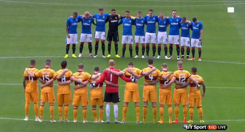 Minute's silence (Motherwell v Rangers - 17th July 2016)