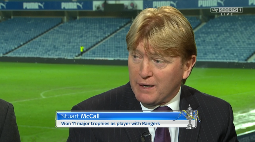 Stuart McCall at Ibrox (Rangers v Cowdenbeath Scottish Cup - 10th Jan 2016)