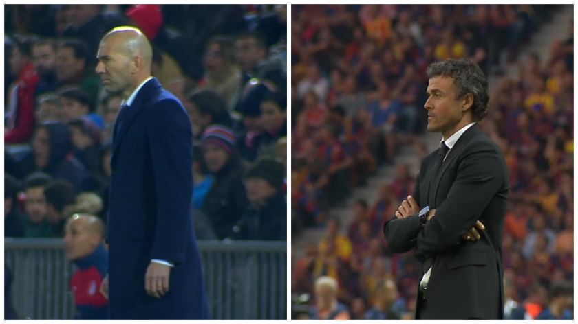 Zinedine Zidane and Luis Enrique