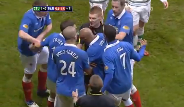 Celtic v Rangers feud April 2011