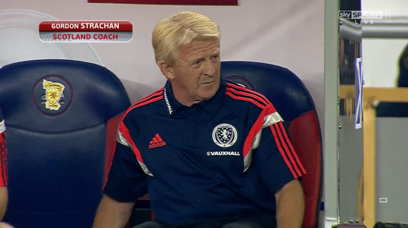 Gordon Strachan in Tbilisi (v Georgia - 4th September 2015)