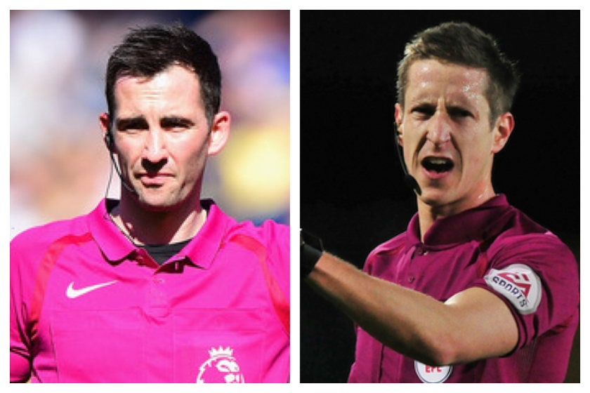 Referees Chris Kavanagh and John Brooks