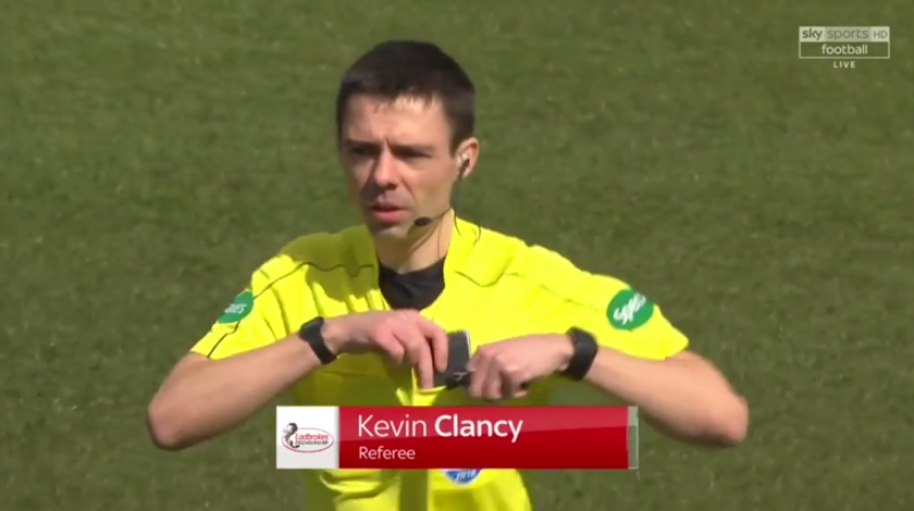 Referee Kevin Clancy
